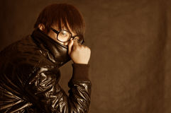 Boy with glasses Stock Image