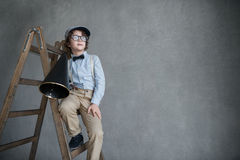 Boy in glasses Stock Images