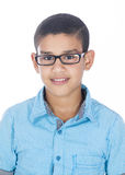 A Boy with Glasses. Isolated on White Background Royalty Free Stock Images