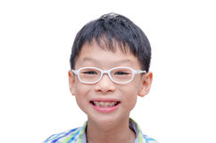 Boy with glasses smiling Royalty Free Stock Photo