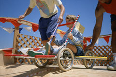 Boy in go-cart Stock Photos