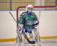 Boy goalkeeper Royalty Free Stock Image