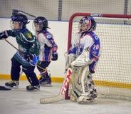 Boy goalkeeper Stock Images