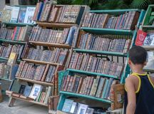 The market of old books In Havana stock photos