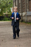 Boy goes to school. First-form boy goes to school Stock Images