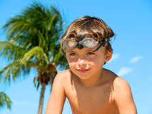 Boy with goggles Royalty Free Stock Photo