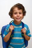 The boy are going in school Stock Images