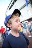 Boy going to a baseball game Stock Images