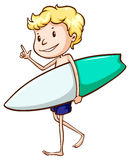 A boy going to the beach Stock Image