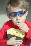 Boy going to the cinema Royalty Free Stock Image