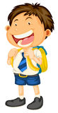 A boy going to school Stock Images