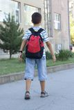 Boy Going to School stock image