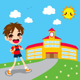 Boy Going To School Stock Images