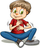 A boy with a golden heart idiom Stock Photos