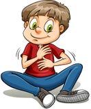 A boy with a golden heart idiom Stock Photos