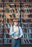 Boy with goldfifh stock photos