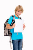 Boy with good report card Stock Photo