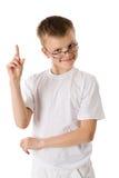 Boy got idea. Funny Boy got idea isolated stock photos