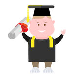 Boy graduation Royalty Free Stock Photography