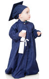 Boy in graduting gown Stock Photo