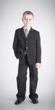 Boy on gray background Royalty Free Stock Photos
