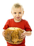 Boy with great bread Stock Photo