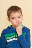 Boy with grimace isolated. Royalty Free Stock Image
