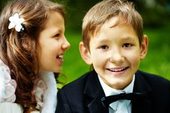 Boy groom Stock Images