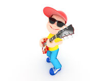 Boy with guitar Stock Photography