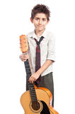 Boy with guitar Royalty Free Stock Photo