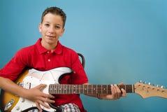 Boy Guitar Stock Images