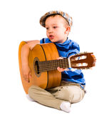 Boy and guitar Royalty Free Stock Photo
