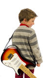 Guitar boy Stock Images