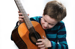 Boy with guitar Royalty Free Stock Image