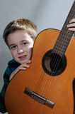 Boy with guitar Royalty Free Stock Photography