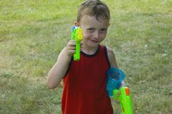 Boy with Gun Stock Photography