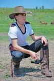 Boy and gun Stock Photography