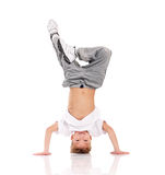 Boy gymnastic royalty free stock image