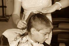 Boy  haircut Stock Photo