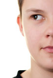 Boy half face Stock Photo