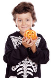 Boy in halloween Stock Images