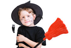 Boy in Halloween costume Royalty Free Stock Photo
