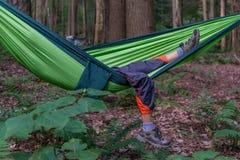 Boy in the hammock Royalty Free Stock Photos