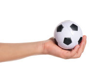 Boy hand with small ball Stock Photo