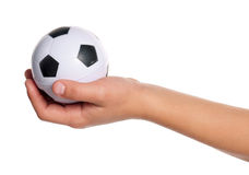 Boy hand with small ball Stock Image