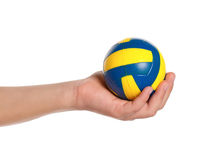 Boy hand with small ball Royalty Free Stock Photo