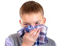 Boy with a Handkerchief royalty free stock photo