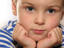 Boy with hands royalty free stock photography