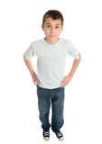 Boy hands on hips Stock Photo
