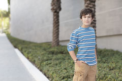 Boy with hands in pockets Royalty Free Stock Photography